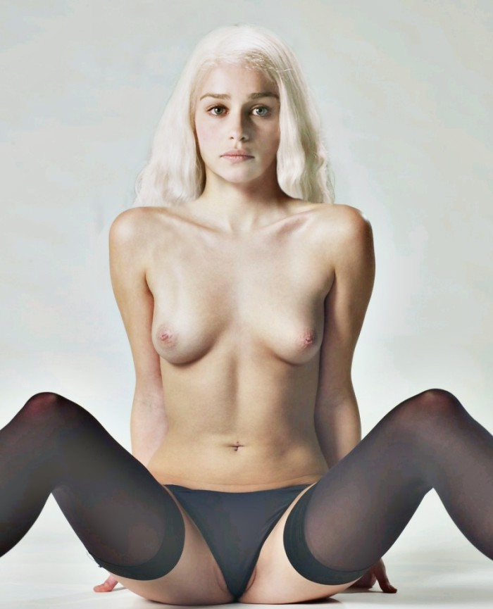 27174-Emilia Clarke as Daenerys Targaryen Nude Fake